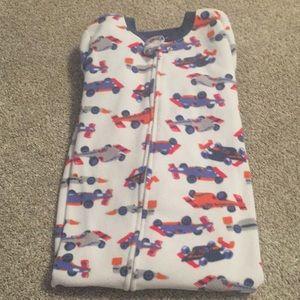 Carter's Pajamas - 3t Carter fleece footie jammies- zip up front